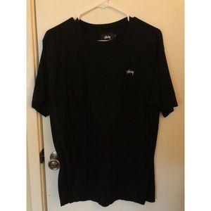 Black Stüssy Crewneck T Shirt
